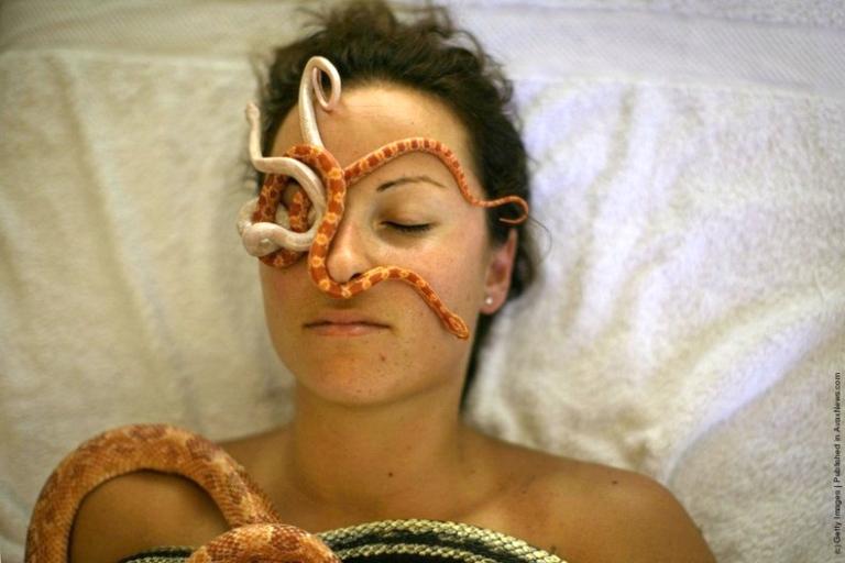 Photo of woman having the Snake Massage